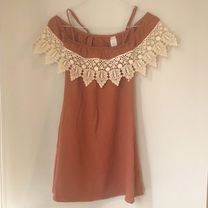 L*Space Crochet Off the Shoulder Knitted Dress